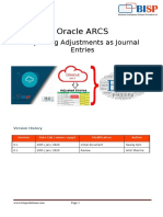Oracle ARCS Exporting Adjustments as Journal
