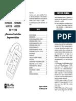 Manual de potenciometro Hanna HI 9025