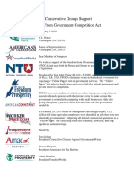 Conservative Groups Support the Freedom From Government Competition Act 2020