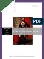 Sexenio Democrático - Comentario de texto histórico