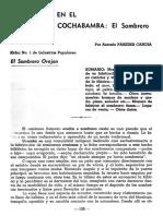 El sombero de Antonio Paredes Candia