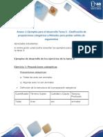 Anexo -1-Ejemplos para el desarrollo Tarea 3 - Clasificación de proposiciones categóricas y Métodos para probar validez de argumentos (2).pdf