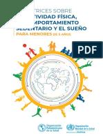 Directrices de la OMS sobre la actividad física, el comportamiento sedentario y el sueño para menores de 5 años_0