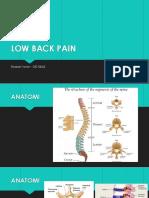 LOW BACK PAIN REFERAT