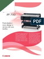 Manual Canon Impressora IPF750
