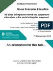 Advancing Social Enterprise Education