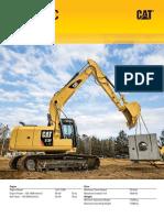 Caterpillar - Large Specalog for 313F L GC Hydraulic Excavator, AEHQ7360-01 (Europe)