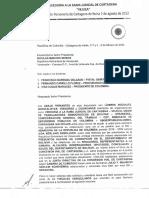 """Carta de la veeduría de la rama judicial """"Vejuca"""""""