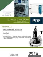 Equipos de esterilización a vapor