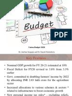 Budget Analysis 2020