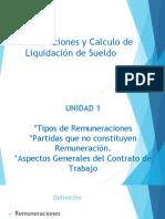 CURSO REMUNERACIONES Y CALCULO LIQUIDACIÓN DE SUELDO. UNIDAD 1