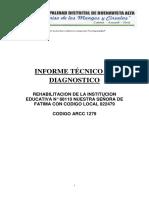 INFORME TÉCNICO DE DIAGNÓSTICO I.E. FATIMA