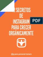 12 Secretos De Instagram Para Crecer Orgánicamente - Instagram Para Personal Trainers.pdf