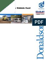 Donaldson Filter Card - DAF