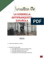 LA GUERRILLA ANTIFRANQUISTA ESPAÑOLA