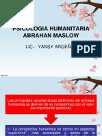 PSICOLOGIA HUMANITARIA ABRAHAN MASLOW