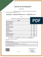 00777-18 Homologacion SGS - calibracion de equipos