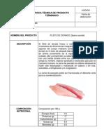 FICHA TECNICA FILETE DE DORADO