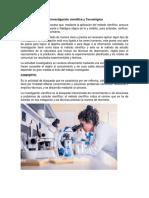 La Investigación Científica y Tecnológica