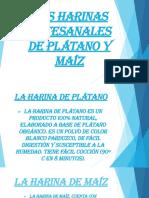 Las Harinas Artesanales De Plátano Y Maíz