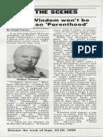 William Windom interview