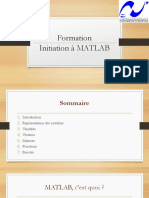 Formation MATLAB