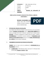 Recurso de Apelacion de Sentencia -Rocio Eva Gonzales Reyna
