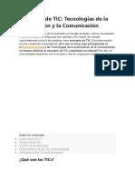 Concepto de TIC 2020
