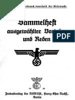 Zentralverlag Der NSDAP- Sammelheft Ausgewaehlter Vortraege Und Reden 1939 250S.scanFraktur