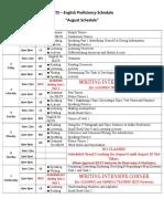 25 IELTS Final Schedule (August '19) Binan Only