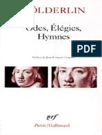 Friedrich Holderlin - Odes Elegies Hymnes