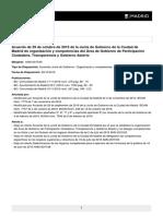 Acuerdo de 29 de octubre de 2015 de la Junta de Gobierno (Define las atribuciones de la SGSR)