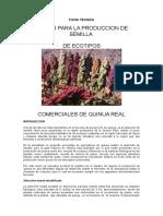Ficha Técnica Producción de semilla de quinua