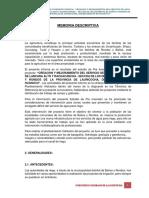 Memoria Descriptiva - Ultimo Lauricocha