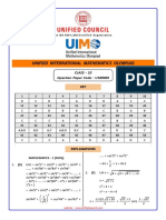 10_UIMO_9009 Provisional Answer Key 2019-20