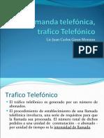 Demanda telefónica, trafico Telefónico