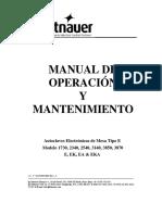 Autoclaves E EK EA EKA -1730-2340-2540.3140,3850,3870 EType-Manual de Uso- Rev 2- Sep-09