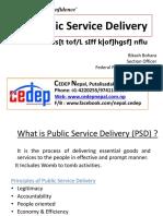 3.2 Public Service Delivery
