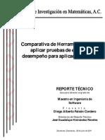 Comparativo de herramientas para aplicar pruebas de estrés y desempeño para aplicaciones Web