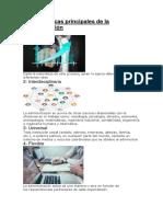 Características principales de la administración