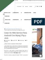 Crear Un Web Service Para Android Con Mysql, Php y Json