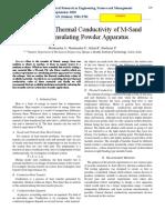 M sand thermal property analysis