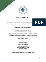 Manual de mantenimiento 1.1