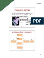 Personality &  Perception
