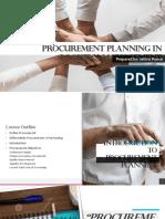 Procurement Planning in Logistics Management
