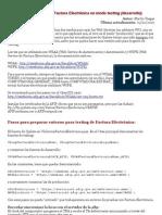 Pasos para usar Factura Electrónica en modo testing