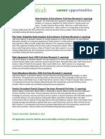 FCI Career Opportunities - December 2010