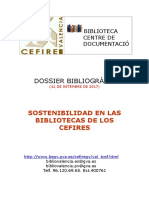 Sostenibilidad Bibliotecas CEFIRES
