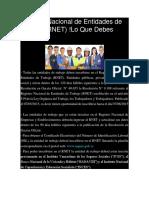 Registro Nacional de Entidades de Trabajo