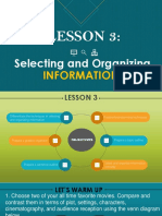 LESSON 3 Selecting-and-Organizing